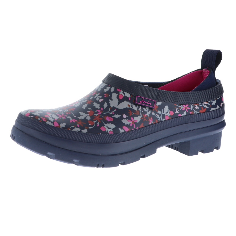 Joules Tall Welly Print French Navy Dogs In Leaves Damenschuhe Rain Stiefel Größe 9M