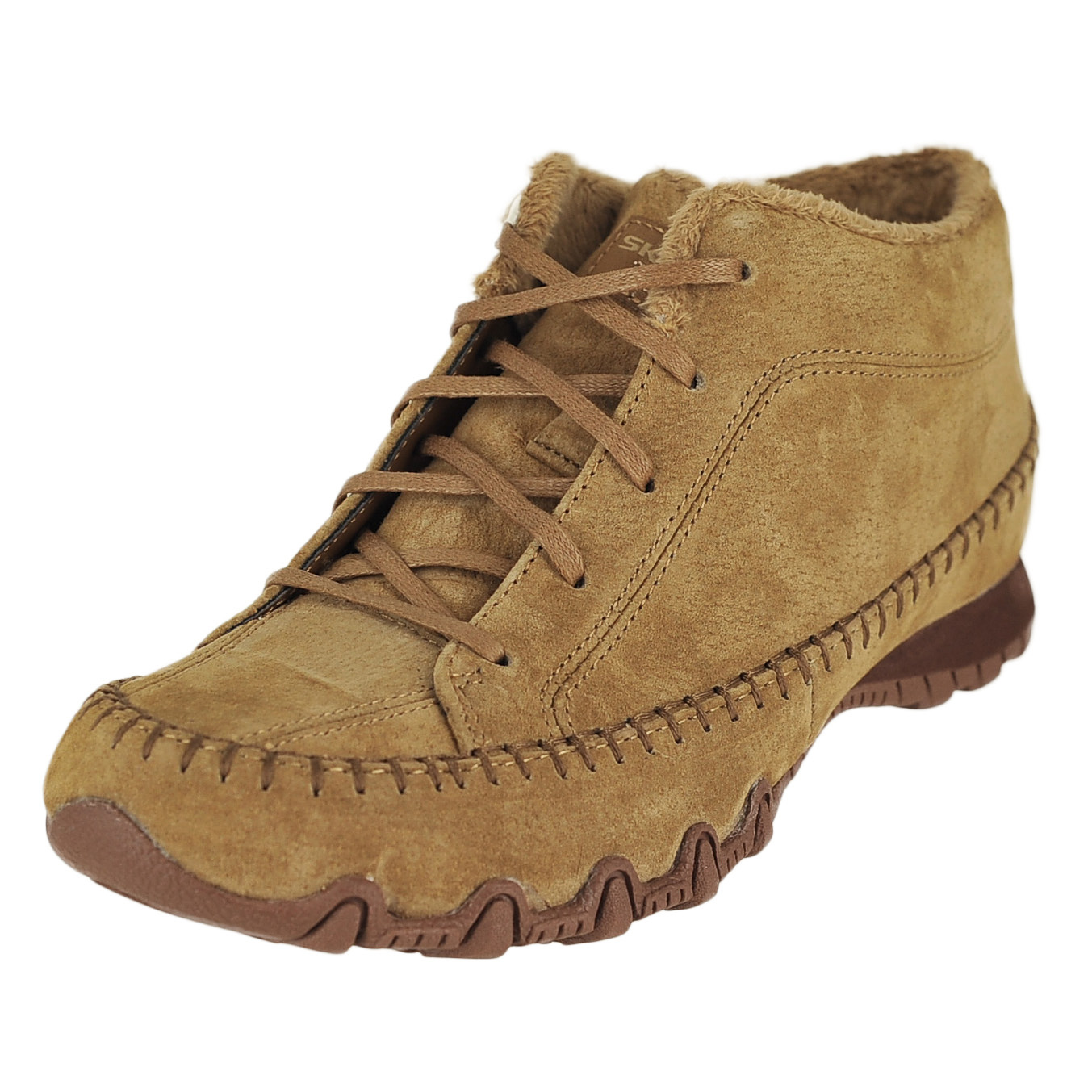 skechers bikers totem pole brown womens ankle hi boot size