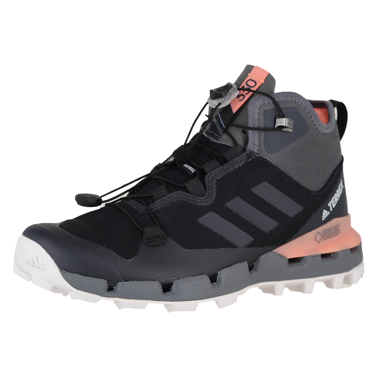 87244e71f6530 Details about Adidas Terrex Fast Mid Gtx-Surround W Blk Grey Five Chalk  Coral Womens Boots 11M