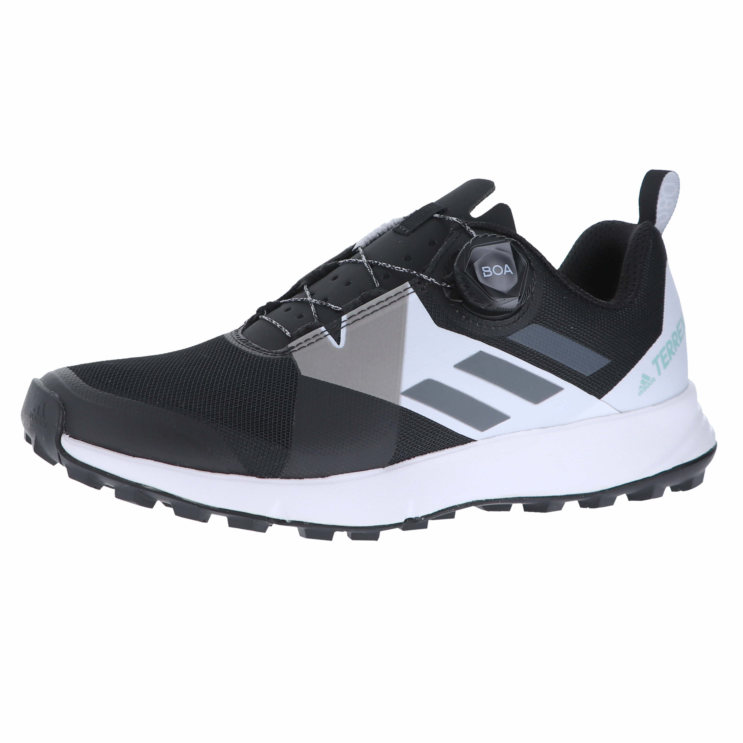 huge selection of ff9c1 b018e Details about Adidas Terrex Two Boa W Black Translucent White Womens  Lace-Up Size 10M