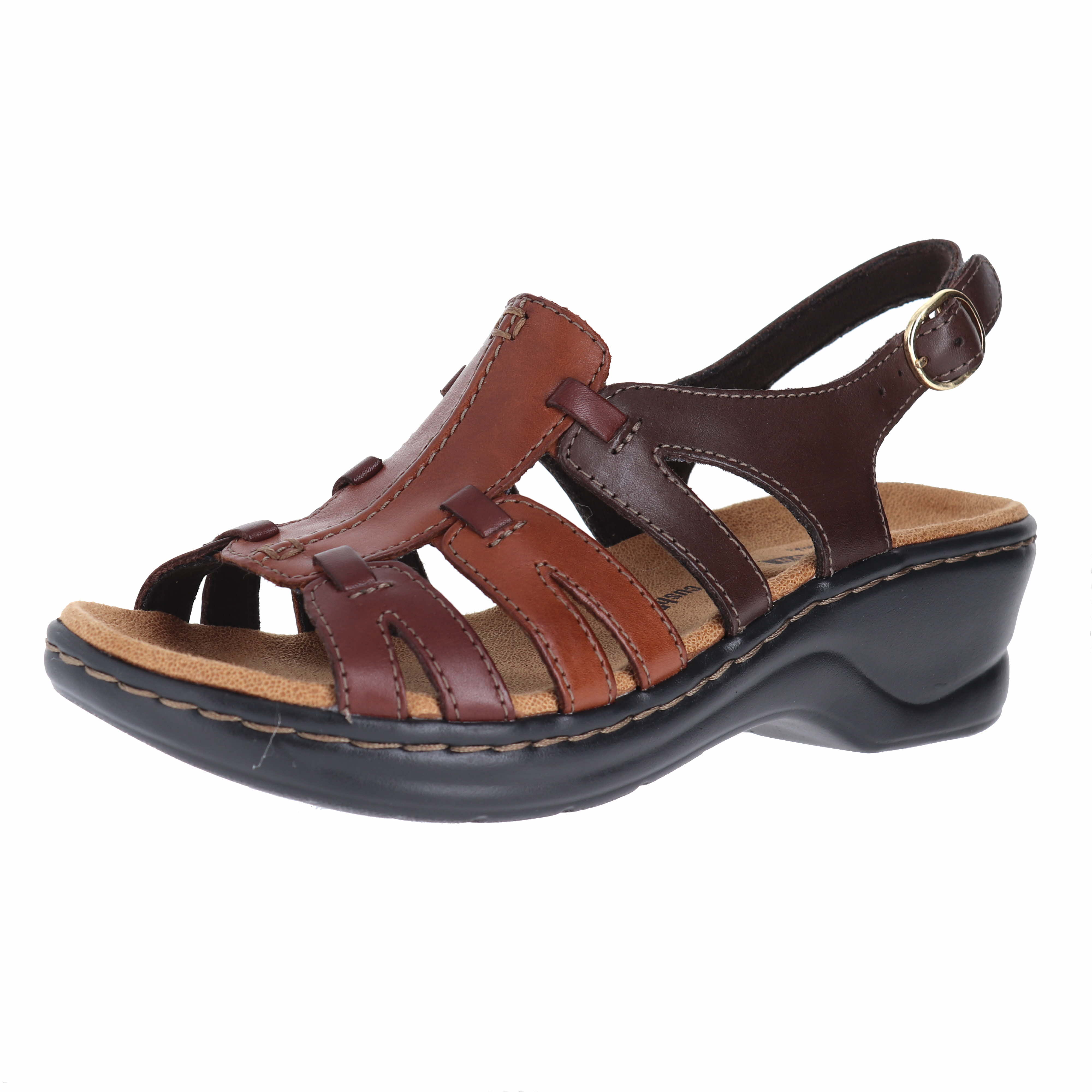 7ea84778bf0f Clarks Lexi Marigold Brown Multi Leather Womens Ankle Strap Size 9M ...