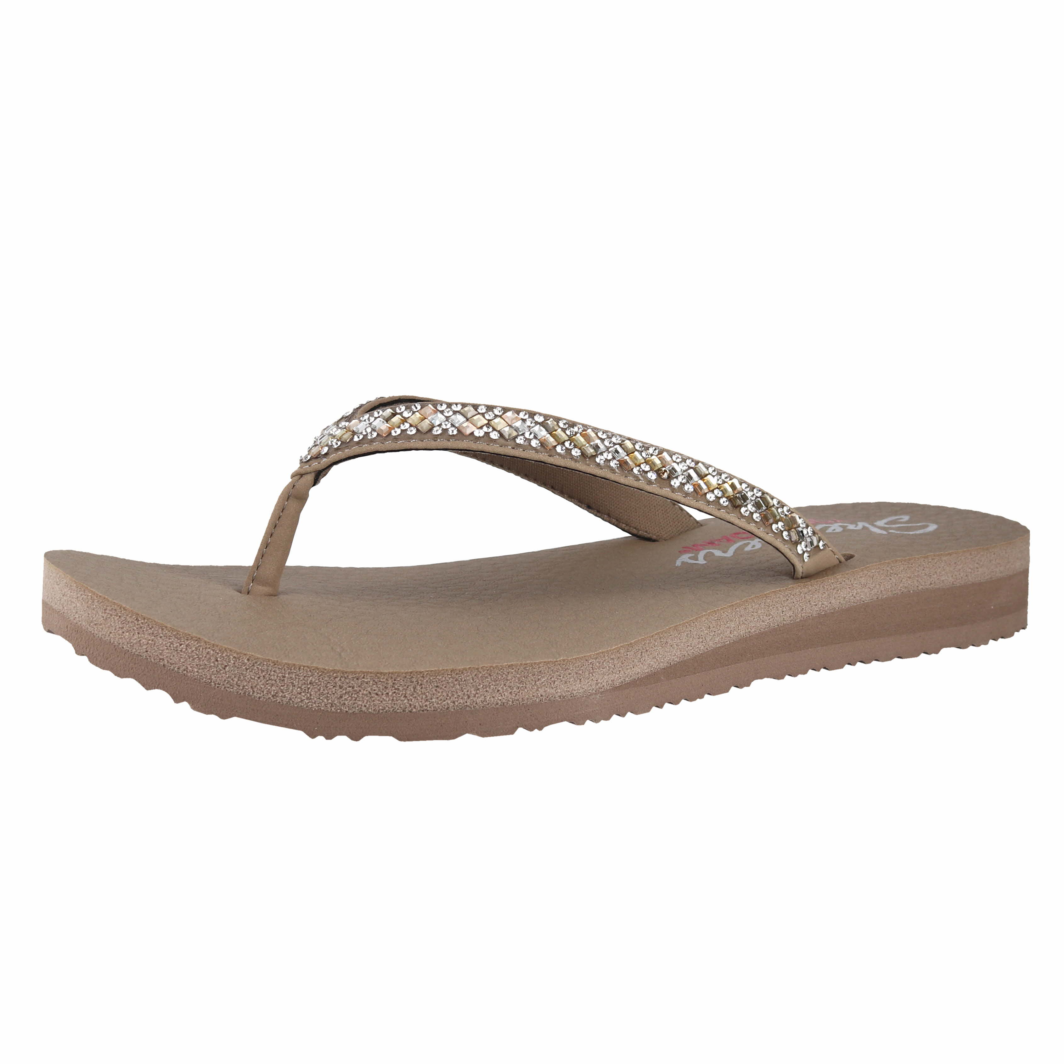 b9bd4faba Skechers Meditation - Perfect 10 Taupe Womens Flip-Flop Size 9M ...