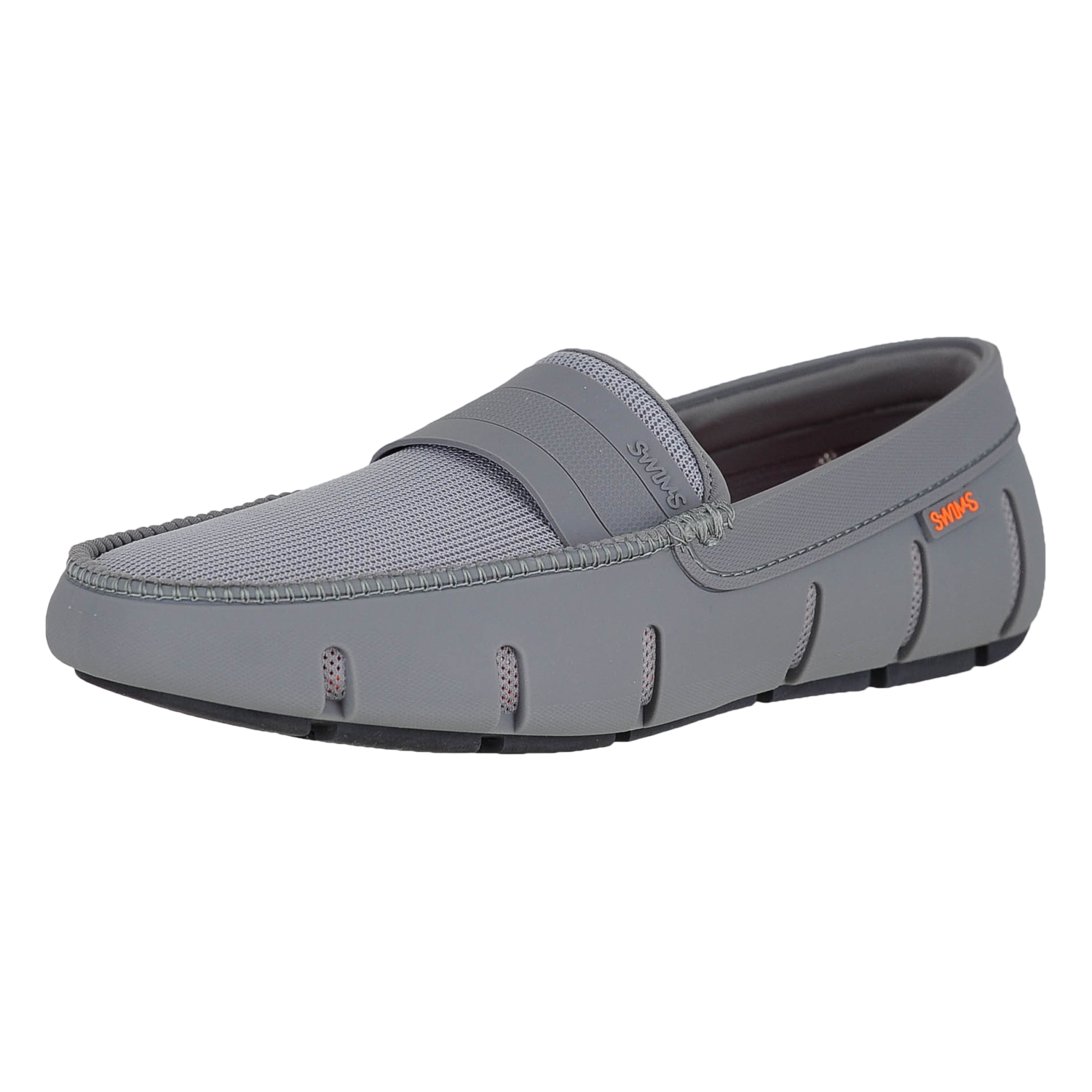 8dd53cfdb86 Details about Swims Stride Single Band Keeper Gray Black Mens Loafers Size  8M