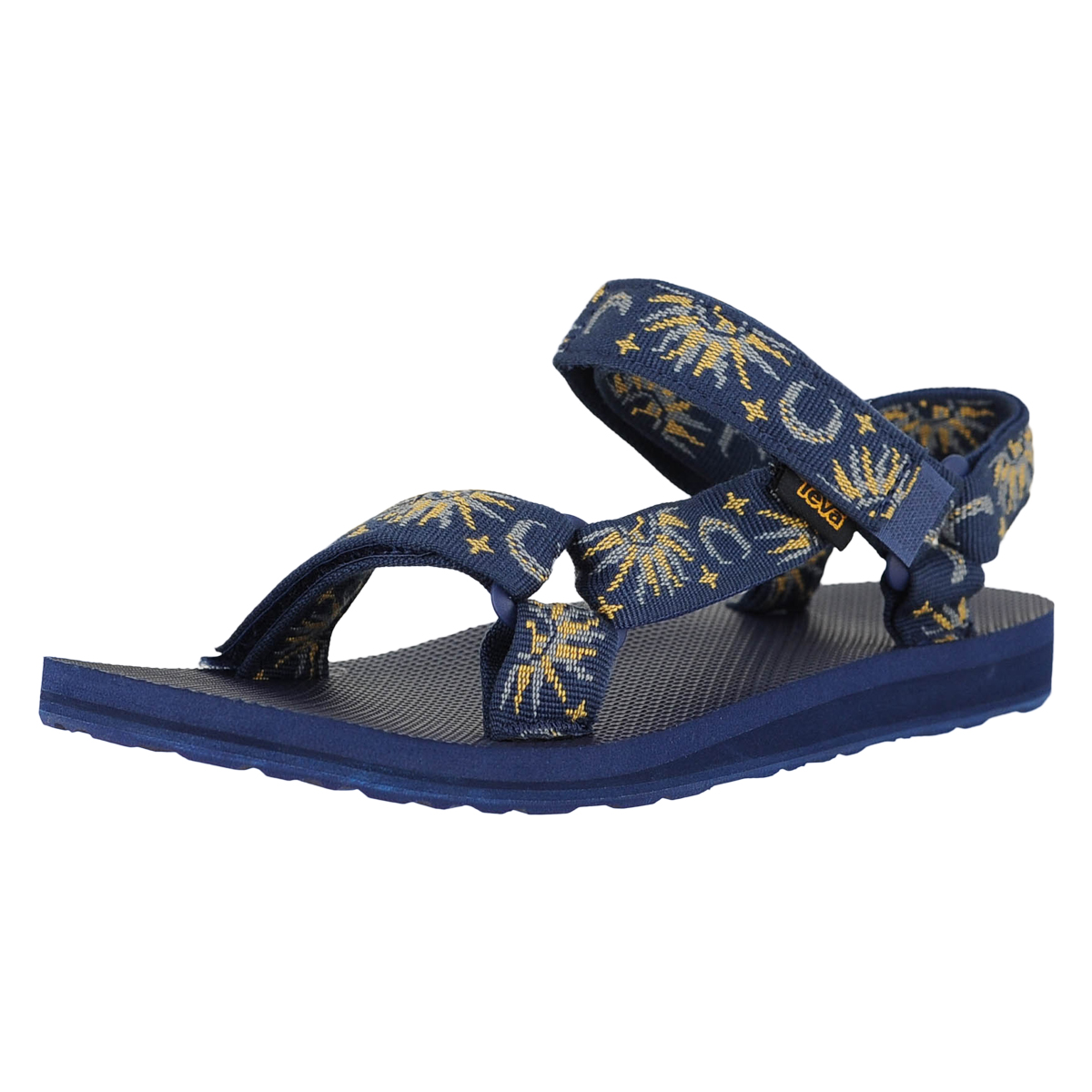 e869d006e4ba22 Details about Teva Original Universal Sun And Moon Insignia Blue Womens  Ankle Strap Size 10M