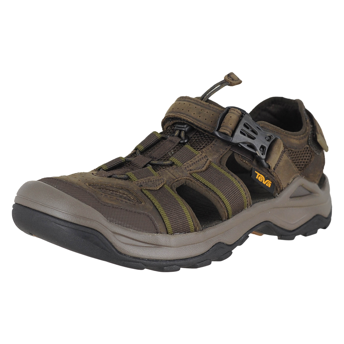 93759b721 Details about Teva Omnium 2 Leather Turkish Coffee Mens Fisherman Sandal  Size 10M
