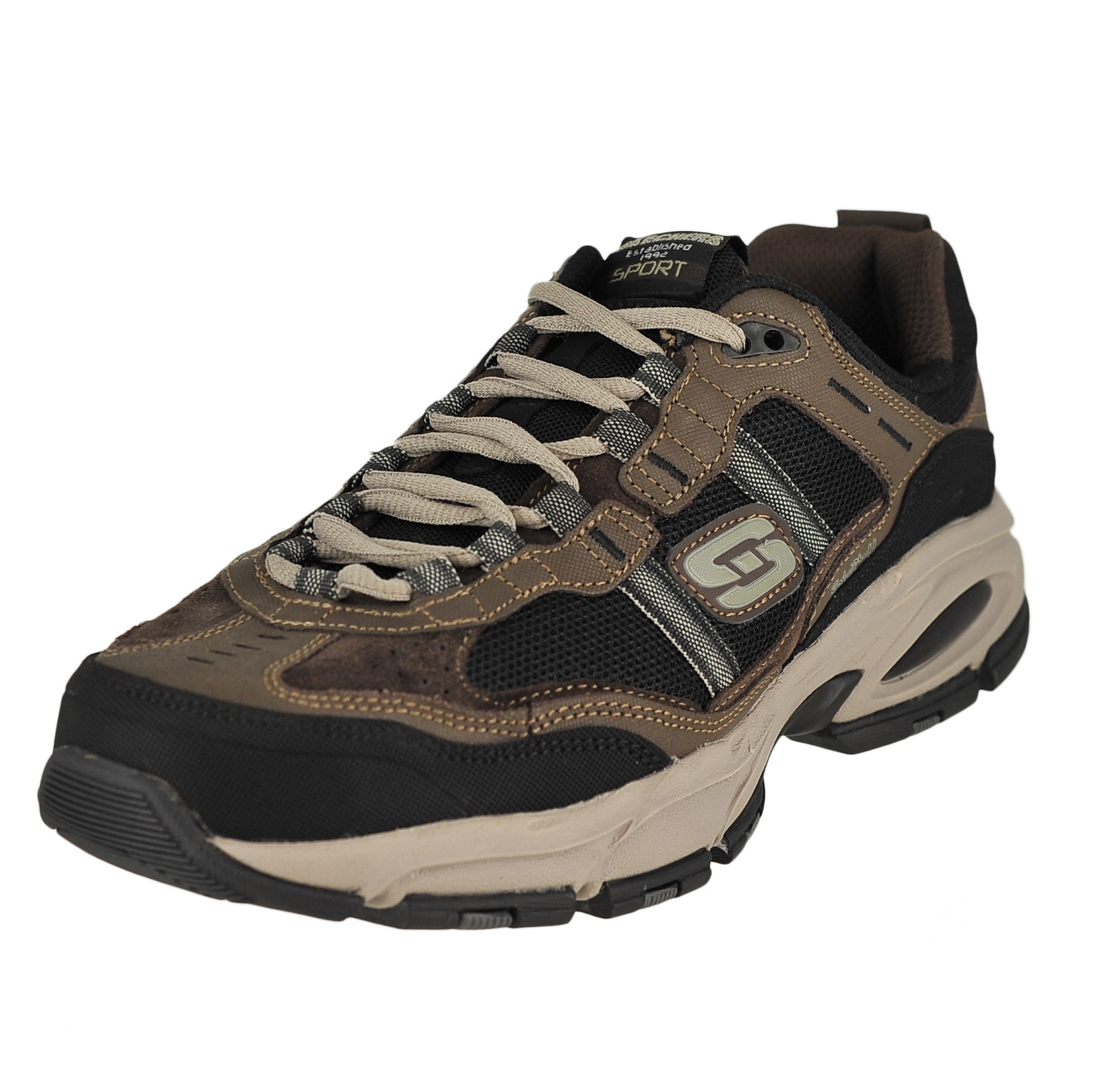 find lowest price prevalent comfortable feel Details about Skechers Vigor 2.0-Trait Brown/Black Mens Sneaker Oxford Size  14W